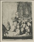 angel art - the presentation with the angel by rembrandt van rijn