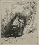 spanish art - the spanish gypsy by rembrandt van rijn