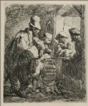 music art - the travelling musicians by rembrandt van rijn