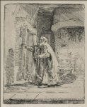 rembrandt van rijn tobit blind with the dog painting