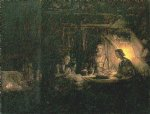 zeus and mercury in the house of filomen and bauci by rembrandt van rijn posters