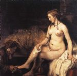 bathsheba at her bath by rembrandt prints