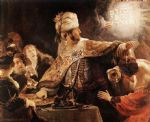 belshazzar s feast by rembrandt prints
