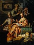 music oil paintings - musical allegory by rembrandt