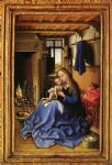 virgin and child in an interior by robert campin painting