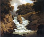 a waterfall by robert salmon painting