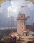 robert salmon acrylic paintings - old bidston lighthouse by robert salmon