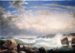 rafe s chasm gloucester massachusetts by robert salmon painting