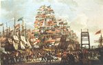 robert salmon acrylic paintings - visit of the prince of wales to liverpool 18 september 1806 ii by robert salmon