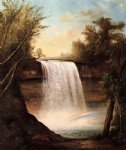 robert scott duncanson watercolor paintings - the falls of minehaha by robert scott duncanson