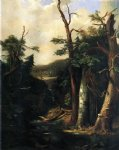 robert scott duncanson watercolor paintings - western forest by robert scott duncanson