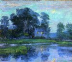 at eventime by robert vonnoh painting