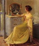 bessie potter vonnoh at her dressing table by robert vonnoh painting