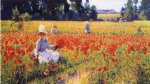 coquelicots by robert vonnoh painting