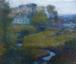 lingering rain moon and eventide by robert vonnoh painting