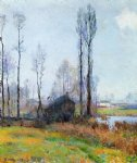 moist weather france by robert vonnoh painting