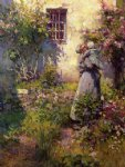 peasant s garden by robert vonnoh painting