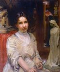 portrait of bessie potter vonnoh by robert vonnoh painting