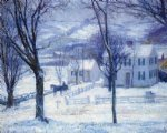 teacher going home by robert vonnoh painting