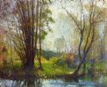 tender days by robert vonnoh painting