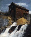 the mill by robert vonnoh painting