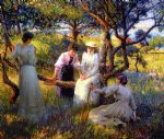 the ring by robert vonnoh painting