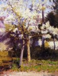 trees at gertz by robert vonnoh painting