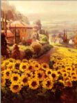 roberto lombardi watercolor paintings - fields of gold by roberto lombardi