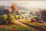 roberto lombardi watercolor paintings - valley view ii by roberto lombardi