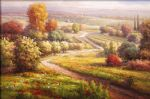 roberto lombardi watercolor paintings - vineyard view ii by roberto lombardi