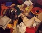 framed paintings - married life by roger de la fresnaye