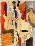 roger de la fresnaye art - smoking in the shelter by roger de la fresnaye