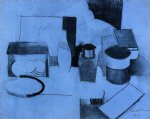 roger de la fresnaye art - still life tin of tea and pot of tobacco by roger de la fresnaye