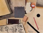 roger de la fresnaye acrylic paintings - the penholder by roger de la fresnaye