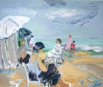 bord de plage by roland lefranc paintings