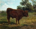 longhorn bull in a landscape by rosa bonheur acrylic paintings