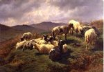 rosa bonheur acrylic paintings - sheep in the highlands by rosa bonheur