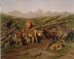 rosa bonheur weaning the calves painting 25337