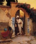 rudolf ernst original paintings - by the entrance by rudolf ernst