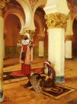 rudolf ernst original paintings - evening prayer by rudolf ernst