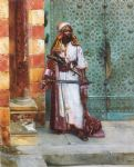 rudolf ernst original paintings - standing guard by rudolf ernst