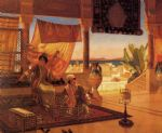 rudolf ernst original paintings - the terrace by rudolf ernst