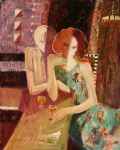 sabzi famous paintings - between friends by sabzi