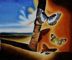 landscape original paintings - landscape with butterflies ii by salvador dali