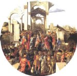 sandro botticelli art - adoration of the magi v by sandro botticelli