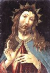 sandro botticelli watercolor paintings - christ crowned with thorns by sandro botticelli