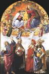 sandro botticelli art - coronation of the virgin san marco altarpiece by sandro botticelli