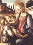 angel art - madonna and child and two angels by sandro botticelli