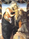 angel art - madonna and child with an angel by sandro botticelli