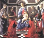 sandro botticelli acrylic paintings - madonna and child with six saints sant ambrogio altarpiece by sandro botticelli